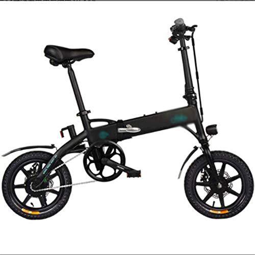 WJSWD Bicicleta de nieve eléctrica, aleación de aluminio, bicicletas eléctricas plegables, faros LED de 250 W, bicicleta para adultos, deportes, ciclismo, batería de litio para adultos (color: negro)