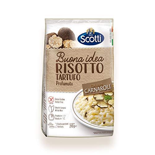 Riso Scotti - Buona Idea Trüffel-Risotto - Carnaroli-Reis, glutenfrei, Risotto Reis fertig in 15 Minuten, 210 gr