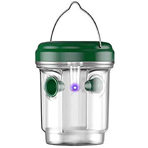 Lispeed Veneno, para Avispas, Mosquitos, con luz Solar, fácil de llenar con Cebo, Verde