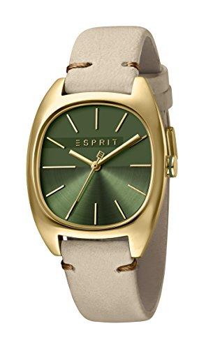Esprit Damen Analog Quarz Uhr mit Leder Armband ES1L038L0055