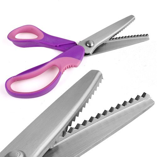 Professionale sartoria Pinking Shears Crafts Zig Zag Cut Forbici (Purple)