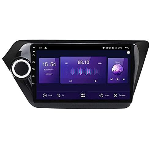 Android 10.0 coche estéreo 2 Din Radio Sat Nav para KIA RIO 3 2011-2016 navegación GPS 9'' pantalla táctil MP5 reproductor multimedia receptor de video con 4G/5G WiFi Carplay
