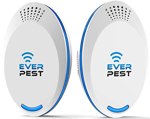 Ultrasonic Pest Repellent Control 2020 (2-Pack), Plug in Home, Flea, Rats, Roaches, Cockroaches, Fruit Fly, Rodent, Insect, Indoor and Outdoor Repeller, Get Rid of Mosquito, Ants