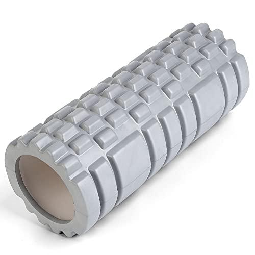 フォームローラー 筋膜リリース グリッドフォームローラー グレー33cm×14cm×14cm ヨガポール トレーニング スポーツ トリガーポイント 筋膜リリースモデル フィットネス ストレッチ器具