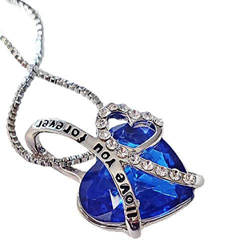 STAZZLE Fancy New Lovely I Love You Forever Pendant Necklaces Jewelry for Women