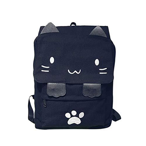 FENICAL Sac à Dos Casual Canvas Sac à Dos pour Ordinateur Portable Cute Cat pour Femmes Hommes