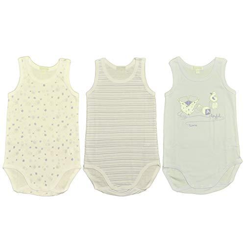 Liabel 3 Body Neonato Spalla Larga 100% Cotone Art.5832B/T1457/21(12 Mesi)