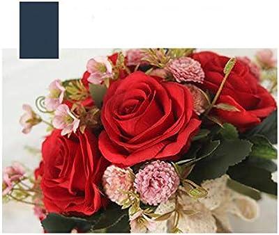 ハンドメイド耐久性のある結婚式人工ブーケ、花嫁持株ブーケ (Color : B)