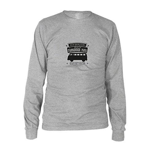 Ich Bin EIN Bulli Fahrender Papa - Herren Langarm T-Shirt, Größe: L, Farbe: grau meliert
