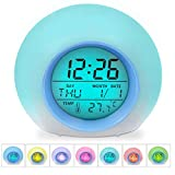 Arespark Kids Alarm Clock, 7 changing Color Electronic Bedrooms Alarm Clock, Children's LED