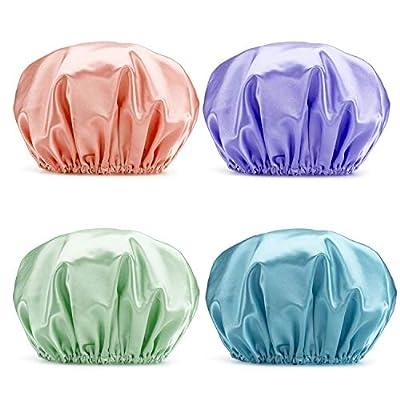 AmazerBath Shower Cap 4-Pack