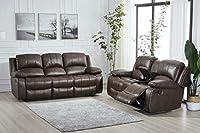 Betsy Furniture 2PC Bonded Leather Recliner Set Living Room Set
