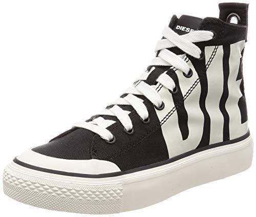 Diesel Damen S-ASTICO MC W-Sneaker mi Turnschuh, Schwarz/Star White, 38.5 EU