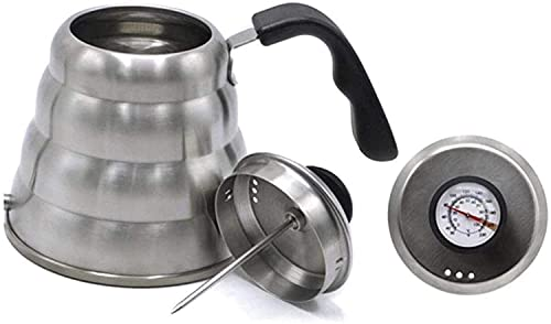 Simple and Creative 304 Stainless Steel Coffee Drip Gooseneck Simple and Creative Kettle Teapot Simple and Creative Kettle Teapot Kitchen Accessories 1000Ml (with Thermometer), lsxysp