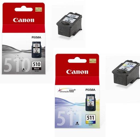 2x Cartouches d'encre pour Imprimante Canon Pixma MP270 - Noir+Tri-Colour