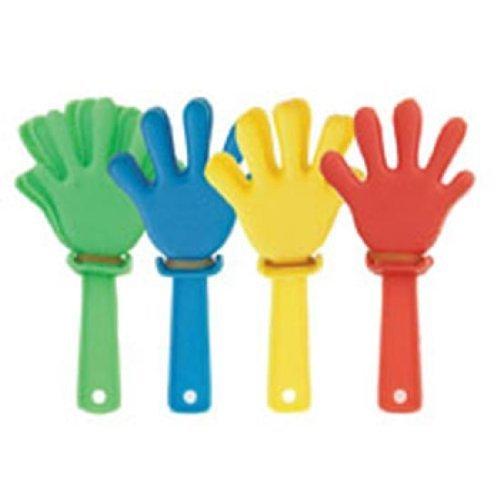 Partyrama Lot de 12 mini claquettes en forme de main
