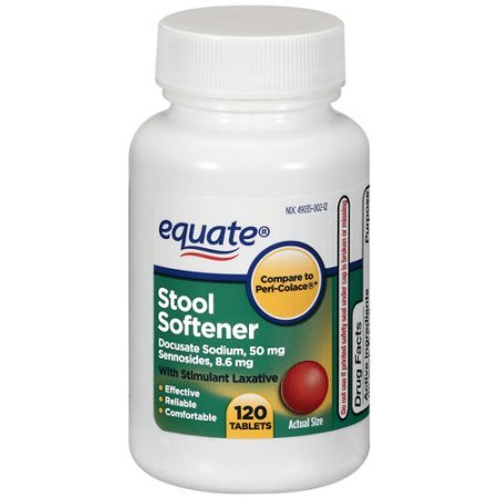 Equate Stool Softener with Stimulant Laxative, 120 Tablets