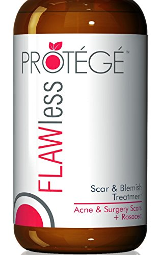 Protege FLAWless Scar Gel Cream, Best for Scar Removal, Flattens and Softens Scars (1 ounce)