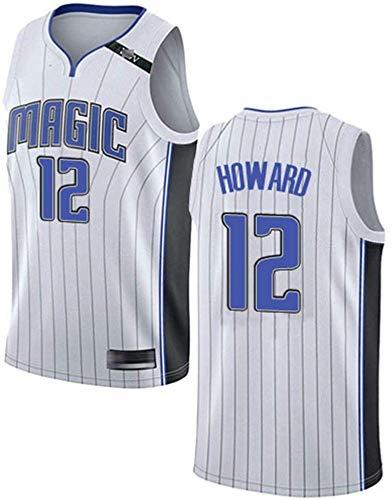 YZY Camiseta De La NBA para Hombre - Magic Dwight Howard # 12 Camiseta De Baloncesto Chaleco De Baloncesto Sin Mangas, Transpirable Y Bordado Clásico,XL(180~185CM/85~95KG)