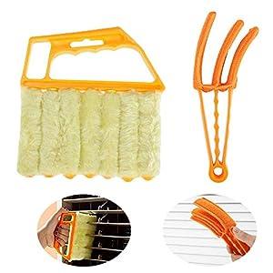 Homo Trends - Juego de 2 limpiadores de persianas, cepillo para persianas, limpiador de polvo para persianas venecianas para limpieza de ventanas