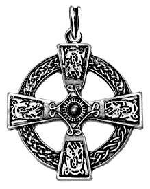 Keltenkreuz Kettenanhänger (CELTIC CROSS 925 SS), 925 Sterling Silber, keltisches Kreuz Kette, keltischer Schmuck