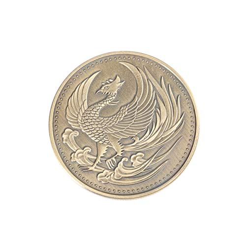 LIOOBO 1 Stück Gedenkmünze Phoenix Bedeutungsvolle Bronze Münze für Freunde Familienmitarbeiter