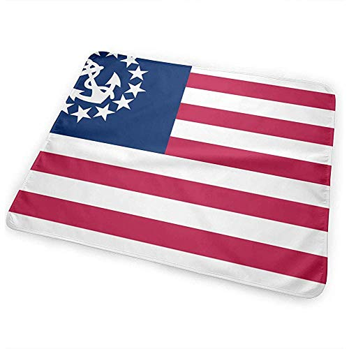 Matelas À Langer,United States Yacht Flag Matelas À Langer Portatif Imperméable Pour Matelas À Langer Pour Lit De Voyage À La Maison 50 * 70 Cm