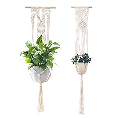 Plant Hanger,YXMYH Macrame Plant Hanger Hanging Planter Wall Art vintage-inspired 41Inch,Set of 2