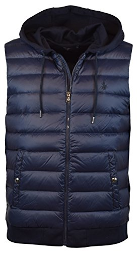 Polo Ralph Lauren Men's 750 Fill Double-Knit Down Vest, L, Aviator Navy