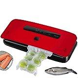ALY Máquina Selladora al Vacío Automático Seco y Húmedo para Uso Doméstico y Comercial 30cm de Envasadora al Vacío,Rojo