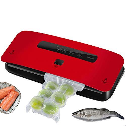ALY Vakuumiergerät, Vakuumierer Automatisch Mit 3 cm verbreitertem Heizdraht für trockene und feuchte Lebensmittel,Rot
