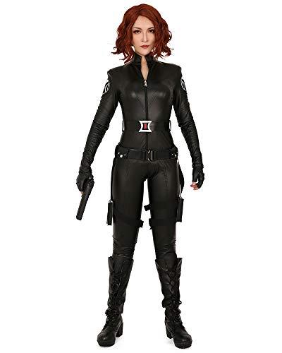 Cosplay.fm Women's Widow Universe Space Cosplay Costume Bodysuit (S) Black