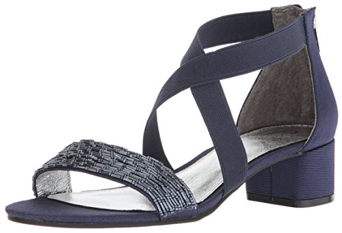 Adrianna Papell Women's Teagan Sandal, Midnight, 7.5 M US