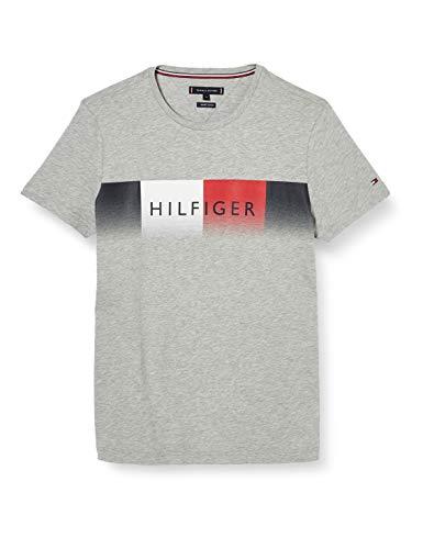Tommy Hilfiger Herren Th Cool Hilfiger Fade Tee Hemd, Grau, X-Large