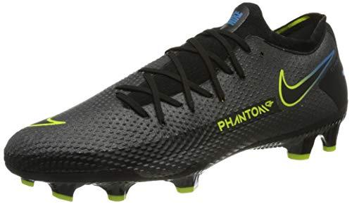 Nike Phantom GT Pro FG, Football Shoe Hombre, Black/Black-Cyber-Light Photo Blue, 42 EU