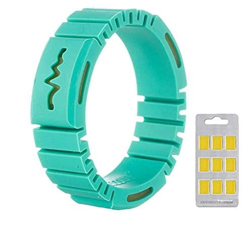 KCGNBQING Mosquitera Repelente Pulsera Pulsera Seguro Impermeable 6pcs Chips para niños Adulto Verde, azul-1pc