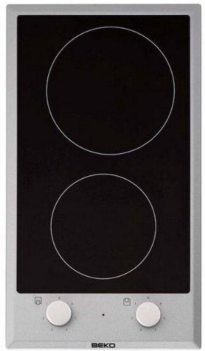Plaque Vitrocéramique 2 feux-Beko HDCC32200X - Plaque de cuisson Vitrocéramique - Dimensions produit (LxP en cm) : 29 / 51