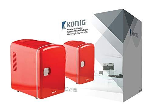 König KN-MF10 frigorifero Libera installazione Rosso 4 L