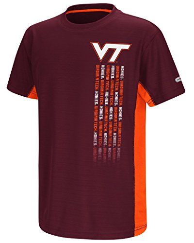 colosseum ncaa virginia t shirts Colosseum Virginia Tech Hokies NCAA Power Set Youth Short Sleeve Performance T-Shirt