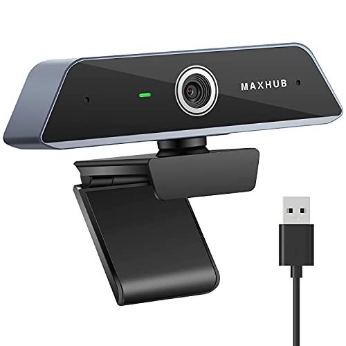 MAXHUB W20 4K Webcam mit Mikrofon Autofokus Belichtungskorrektur 360° Drehbar USB Anschluss Web Kamera für Videoanrufe, Laptop, Computer, Webcam für Zoom Facetime YouTube Skype