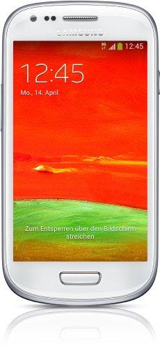 Samsung Galaxy S3 Mini GT-I8200N Smartphone, Display 4 Pollici, Fotocamera 5 MP, Memoria 8GB, Android 4.2, Bianco [Germania]