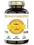 Healthland Vitamin D3 K2 Omega 3 Kapseln hochdosiert vegan 4000 I.E. 90 Stück | O3 D3 K2 Kapseln mit MK7 | Vitamin D3 K2 Omega 3 Kapseln vegan hochdosiert