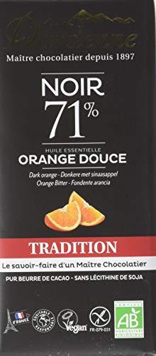 Dardenne Tablette Tradition chocolat noir 71% aux Huiles Essentielles d'orange douce 70 g - Lot de 6