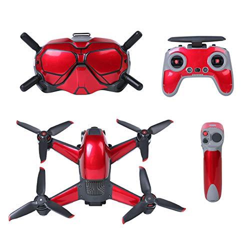 DJFEI FPV Combo Drone Aufkleber Set, wasserdichte PVC Aufkleber Skins Wrap Aufkleber Protector für DJI FPV Drone, Wasserdicht Kratzfest Sonn enbeständig (F)
