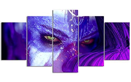 Cinco carteles de lona Fall_out Crisis de radiación Ilustración decorativa 78.7 'x39.4' Prepara la escena Necesita usarse con el marco