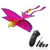 Hanvon Go Go Bird Juguetes Voladores,HelicóPtero De Control Remoto, PáJaro BióNico,UAV Juguetes TecnolóGicos,Juguetes Voladores Simples para NiñOs,NiñOs Y NiñAs,Rosa