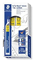 (0.3 mm) - Staedtler Mars Micro Carbon 250 03 0.3mm HB Mechanical Pencil Lead (Pack of 12)