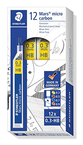 2H Bleistiftminen für Druckbleistifte H HB 0,9mm Feinminen B 0,5mm