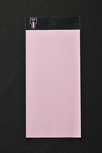 印刷OPP袋 長3 【1,000枚】 50μ(0.05mm) 表:ピンクベタ 切手/筆記可 静電気防止処理テープ付き 折線付き 横120×縦235+フタ30mm