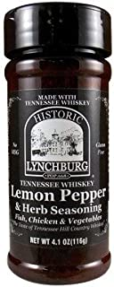 Historic Lynchburg Tennessee Whiskey Lemon Pepper & Herb Seasoning 4.1 Oz. Jar